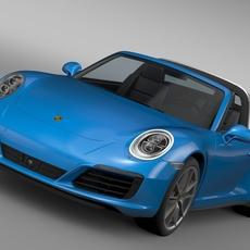 Porsche 911 Targa 4 991 2016 3D Model