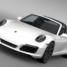 Porsche 911 Targa 4S 991 2016 3D Model
