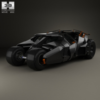 Batmobile Tumbler 2005 3D Model