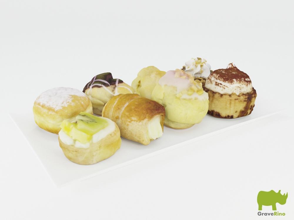 Free High Detail D Cake Models