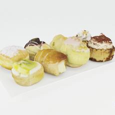 Pastries 3D Model