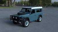 Land Rover Defender 90 Station Wagon w interior HDRI 3D Model