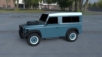 Land Rover Defender 90 Station Wagon HDRI 3D Model