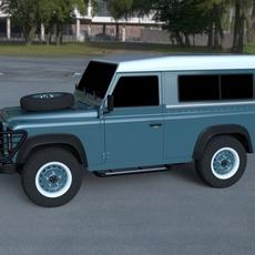 Land Rover Defender 90 Station Wagon HDRI 3D Model