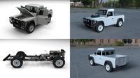 Full Land Rover Defender 90 Pick Up HDRI 3D Model