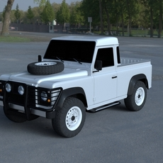 Land Rover Defender 90 Pick Up HDRI 3D Model