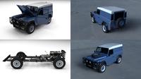 Full Land Rover Defender 90 Hard Top HDRI 3D Model