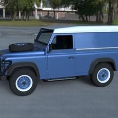 Land Rover Defender 90 Hard Top w interior HDRI 3D Model
