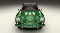 Porsche 356 Cabriolet HDRI 3D Model