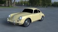 Porsche 356 Coupe HDRI 3D Model