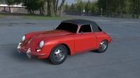 Porsche 356 Cabrio HDRI 3D Model