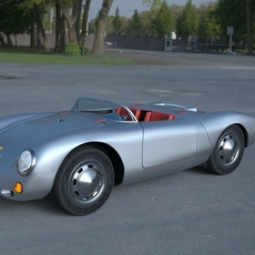 Porsche 550 Spyder HDRI 3D Model