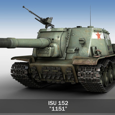 ISU-152 - Soviet heavy self-propelled gun 3D Model