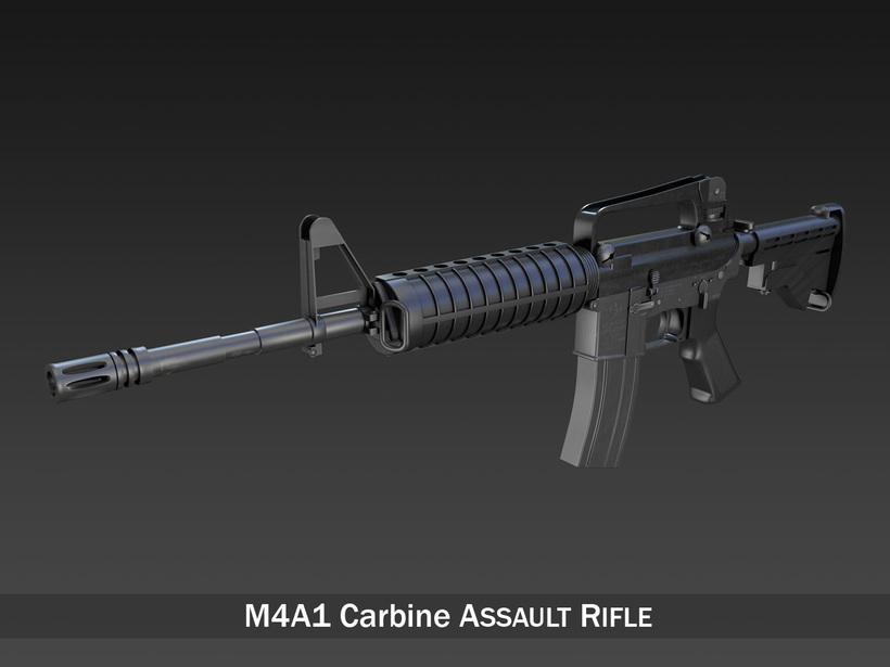 Colt M4A1 Carbine - Assault rifle 3D Model