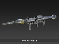 Anti-tank rocket launcher Panzerfaust 3 3D Model