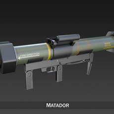 Anti-armor launcher Matador 3D Model