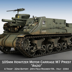 M7 Priest - Anzio 3D Model
