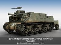 M7 Priest - Baboom 3D Model