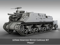 M7 Priest - Howitzer Motor Carriage 3D Model
