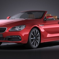 BMW 6-Series Convertible 2015 VRAY 3D Model