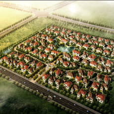 Residential Subdivision Aerial View 605 3D Model