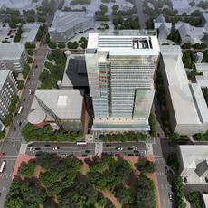 Cityscape with Park 376 3D Model