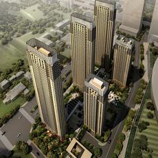 Downtown Cityscape 520 3D Model