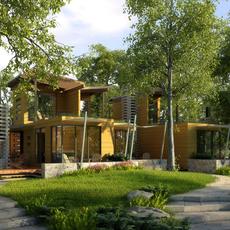 Architecture 030  - Villa building 3D Model