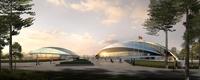 Architecture 042  - Stadium building 3D Model