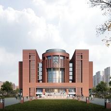 Architecture 047 -School building 3D Model