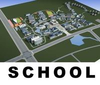 Architecture 664 Schhol Building 3D Model