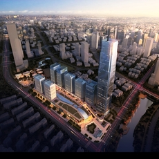 Skyscraper in city 068 3D Model