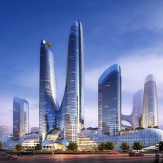 Skyscraper in city 075 3D Model