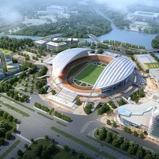 Sports Stadium 002 3D Model