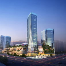 Skyscraper business center 053 3D Model
