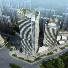 Skyscraper Office Building 010 3D Model