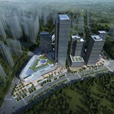 Skyscraper Office Building 012 3D Model