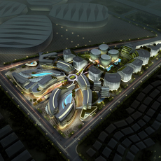 International Convention and Exhibition Center 8 3D Model