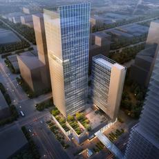 Skyscraper Office Building 023 3D Model