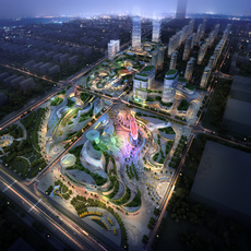 City shopping mall 001 3D Model