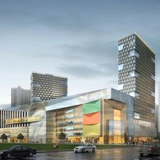 City shopping mall 002 3D Model