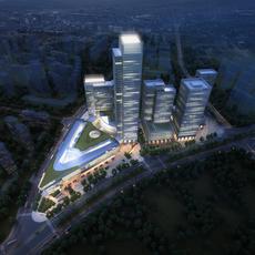 City shopping mall 004 3D Model