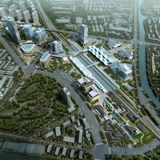 Railway terminal 005 3D Model