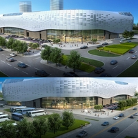 City shopping mall 048 3D Model