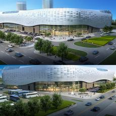 City shopping mall 048 3D Model