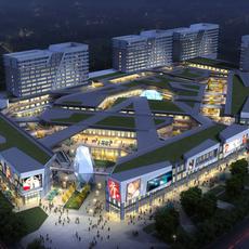 City shopping mall 049 3D Model