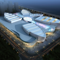 City shopping mall 088 3D Model