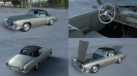 Full w interior Mercedes 190SL Soft Top 3D Model