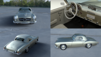 Mercedes 190SL with Interior Hard Top 3D Model