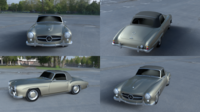 Mercedes 190SL Soft Top 3D Model